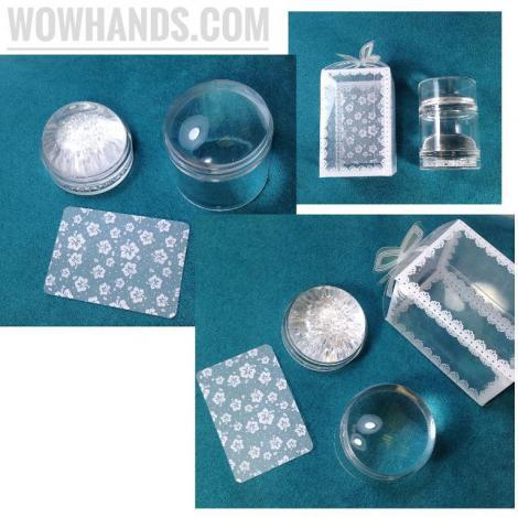 Штамп BORN PRETTY 2-в-1 для уменьшения дизайнов (прозрачный + экстра липкий силиконовый с кристаллами).