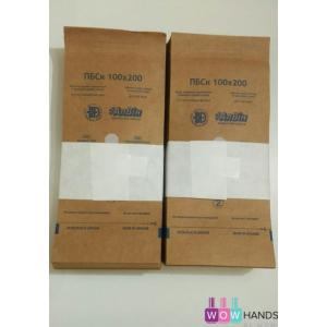 Крафт пакеты 100*200 с индикатором, 100шт, АлВин