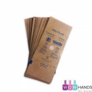 Крафт пакеты 75*150 с индикатором, 100шт, АлВин