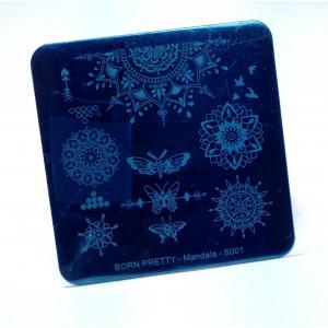 Пластина для стемпинга, квадратная Mandala S001