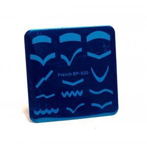 Пластина для стемпинга, квадратная bp-x20