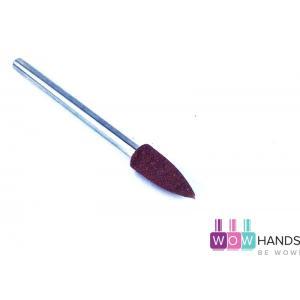 Насадка силиконовая для полировки и шлифовки, коричневая, 6*16