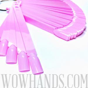 Дисплей «Веер» на кольце, розовый, 50 шт.