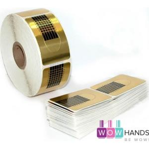500 форм-наклеек для наращивания ногтей, одноразовые, с разметкой.