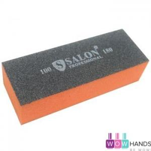 Бафик Salon Professional 100/180 грит - оранжево-черный