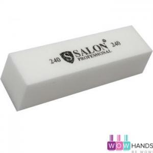 Бафик Salon Professional 240 грит - белый, брусок