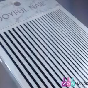Гибкая лента прямая, черная
