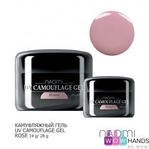 Камуфляжный гель naomi uv camouflage gel rose