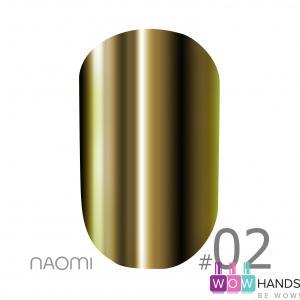 Зеркальная пудра naomi mirror powder 02